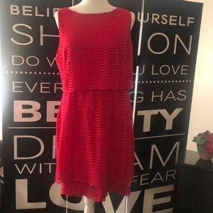 American Living light red dress.